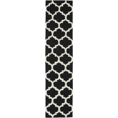 Artistic Weavers Pollack Stella 2-Foot 3-Inch x 12-Foot Area Rug in Black/White