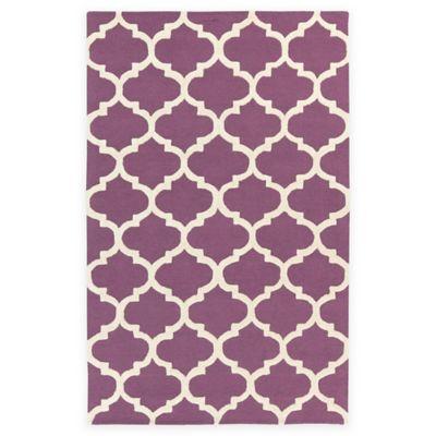 Artistic Weavers Pollack Stella 5-Foot x 8-Foot Area Rug in Purple/White