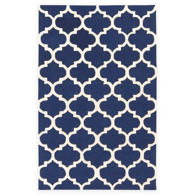 Artistic Weavers Pollack Stella 5-Foot x 8-Foot Area Rug in Navy/White