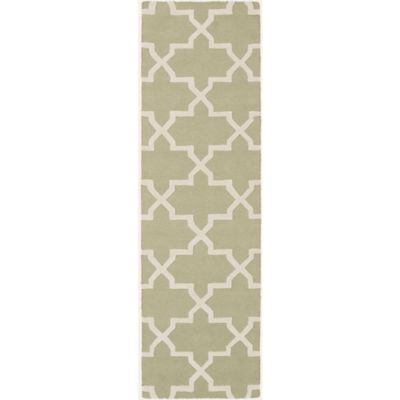 Artistic Weavers 2-Foot 3-Inch x 10-Foot Pollack Keely Runner in Green/White