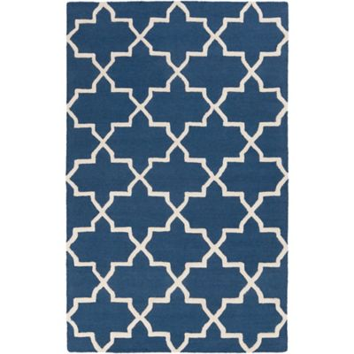 Artistic Weavers 4-Foot x 6-Foot Pollack Keely Area Rug in Blue/White