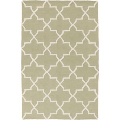 Artistic Weavers 4-Foot x 6-Foot Pollack Keely Area Rug in Green/White