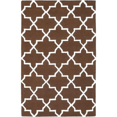 Artistic Weavers 4-Foot x 6-Foot Pollack Keely Area Rug in Brown/White