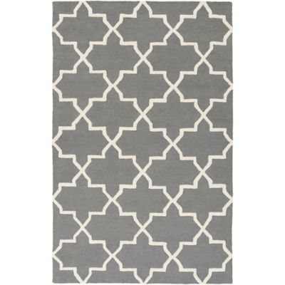 Artistic Weavers 4-Foot x 6-Foot Pollack Keely Area Rug in Charcoal/White