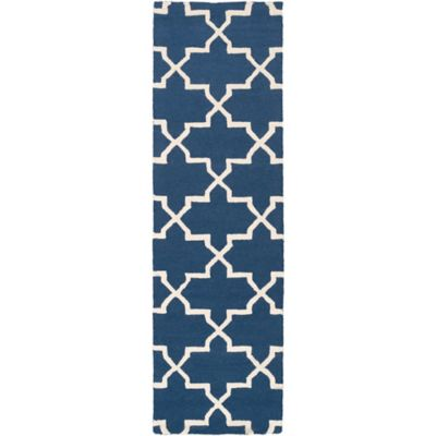 Artistic Weavers 2-Foot 3-Inch x 12-Foot Pollack Keely Runner in Blue/White