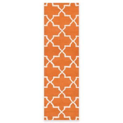 Artistic Weavers 2-Foot 3-Inch x 12-Foot Pollack Keely Runner in Orange /White