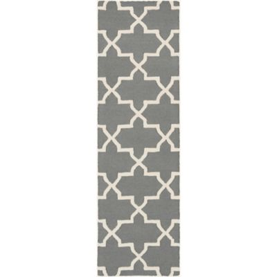 Artistic Weavers 2-Foot 3-Inch x 14-Foot Pollack Keely Runner in Charcoal/White