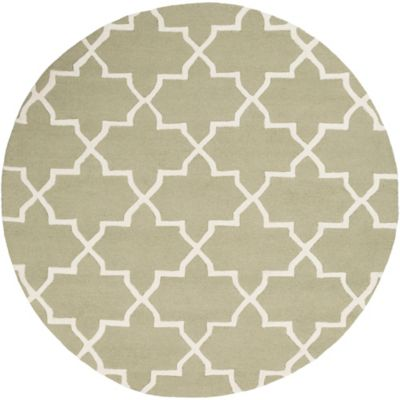 Artistic Weavers 6-Foot Round Pollack Keely Area Rug in Green/White