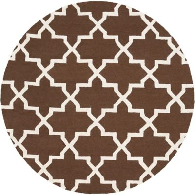 Artistic Weavers 6-Foot Round Pollack Keely Area Rug in Brown/White