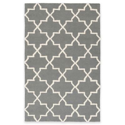 Artistic Weavers 8-Foot Round Pollack Keely Area Rug in Grey/White