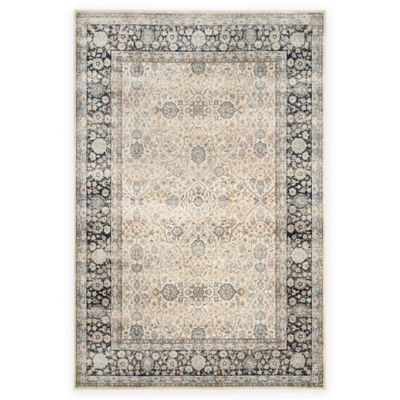Safavieh Persian Garden Vintage Arch 6-Foot 7-Inch x 9-Foot 2-Inch Area Rug in Ivory/Navy