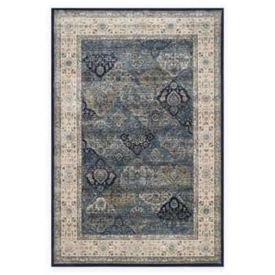 Safavieh Persian Garden Vintage Quilt 8-Foot x 11-Foot Area Rug in Blue Multi