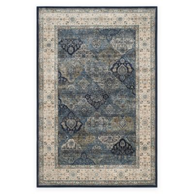 Safavieh Persian Garden Vintage Quilt 6-Foot 7-Inch x 9-Foot 2-Inch Area Rug in Ivory/Navy