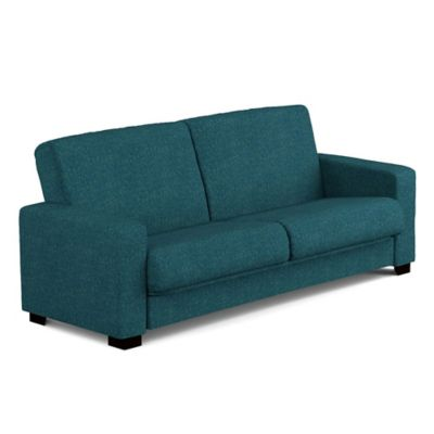 Handy Living Tatjana Convert-a-Couch® in Blue Tweed