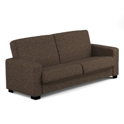 Handy Living Tatjana Convert-a-Couch® in Brown Tweed