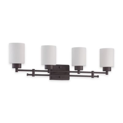 Luminance Ledbury Sunset Lighting 4-Light Wall-Mount Vanity Fixture in Provincial Bronze