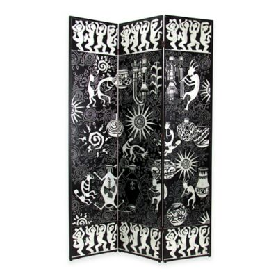 Black/Silver Room Dividers