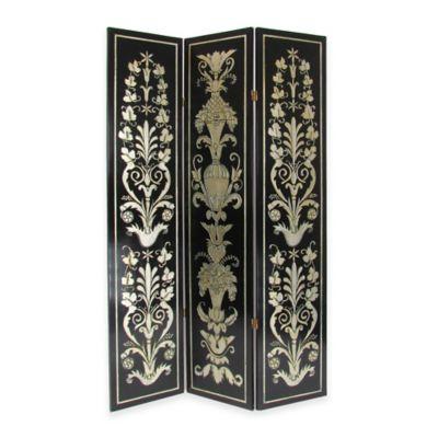Wayborn Coromandel Floral Screen in Black/Silver