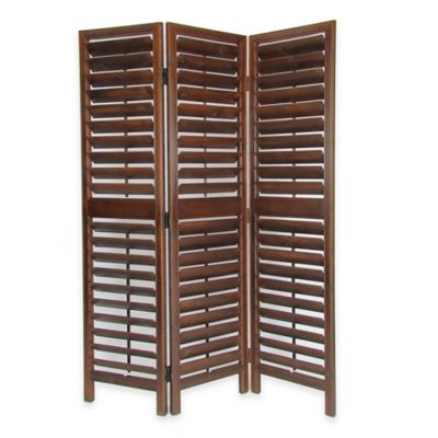 Wayborn Venetian Traditional Louver Screen in Brown