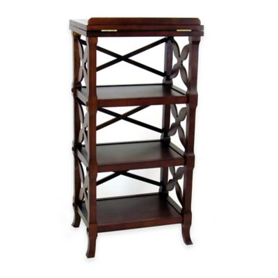 Wayborn Charter 3-Shelf Bookstand in Brown