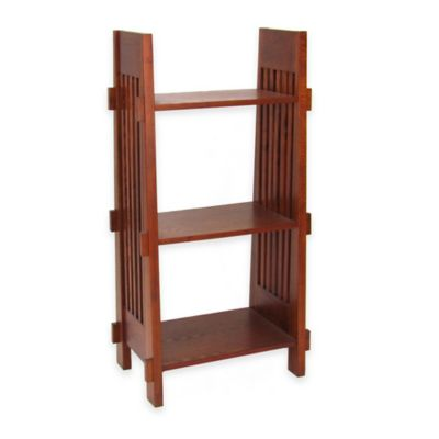 Wayborn Mission 3-Shelf Bookstand in Oak