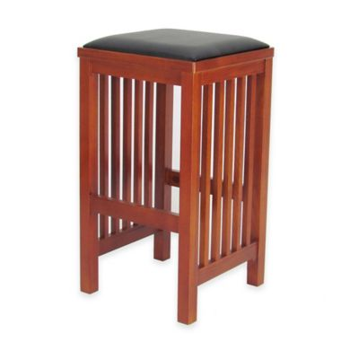 Wayborn Mission Style Barstool in Brown