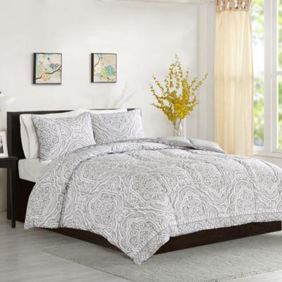 Intelligent Design Nessa Full/Queen Comforter Set in Grey