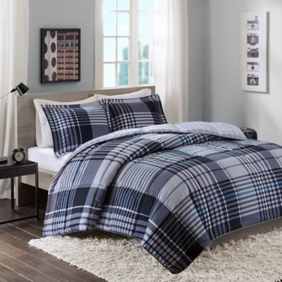 Intelligent Design Nathan Full/Queen Comforter Set in Blue