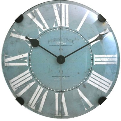 FirsTime® Dome Wall Clock in Teal