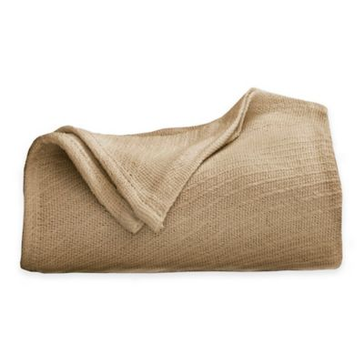 Martex Cotton Twin Blanket in Khaki