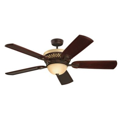 Emerson Braddock 54-Inch 6-Light Ceiling Fan in Venetian Bronze/Dark Mahogany with Remote Control