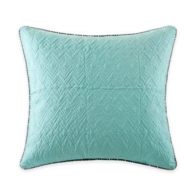 Echo Design™ Kalea Reversible European Pillow Sham in Aqua/White