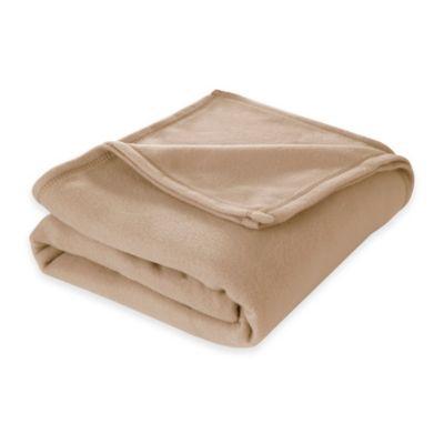 Martex SuperSoft Fleece Twin Blanket in Linen