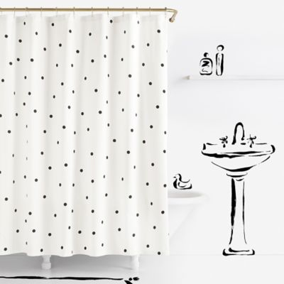 Kate Spade New York 72 Fabric Shower Curtain
