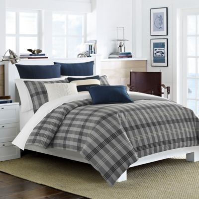 Nautica® Peary Full/Queen Comforter Set in Medium Grey