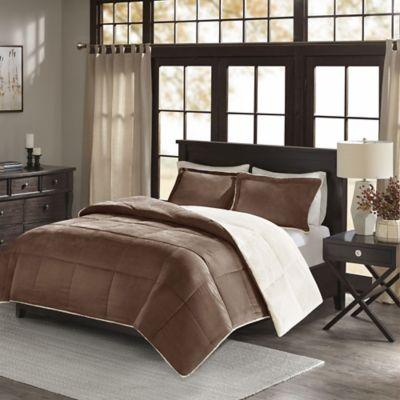 Chocolate and Blue Comforter Set