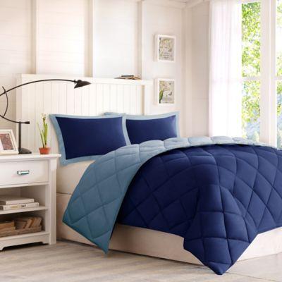 Comforter Classics Larkspur King Down Alternative Comforter Mini Set in Navy