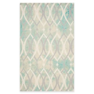 Safavieh Dip Dye Links 4-Foot x 6-Foot Area Rug in Green/Ivory