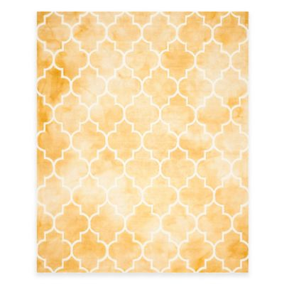 Safavieh Dip Dye Trellis Point 8-Foot x 10-Foot Area Rug in Gold/Ivory