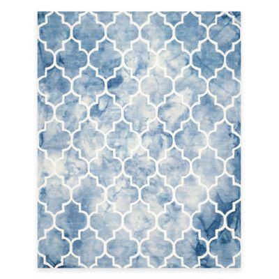 Safavieh Dip Dye Trellis Point 8-Foot x 10-Foot Area Rug in Blue/Ivory