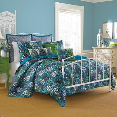 Collier Campbell Paradiso Twin Quilt Set in Indigo