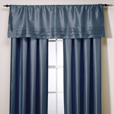 Teal Tailored Valance