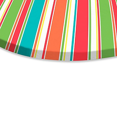 Buy Breeze Stripe 70 Inch Round Elastic Tablecloth From