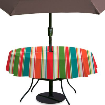 Breeze Stripe 60-Inch x 84-Inch Umbrella Tablecloth