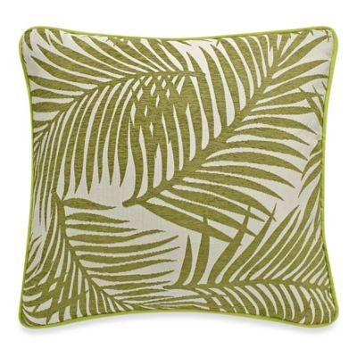 HiEnd Accents Capri Fern European Pillow Sham in Green/White