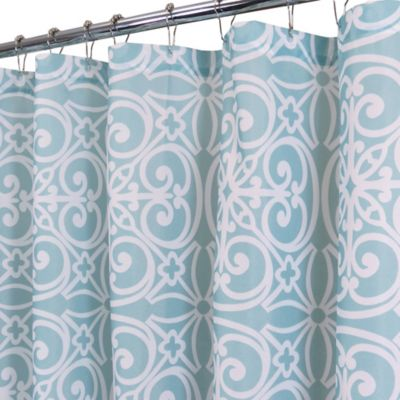 East Gate Shower Curtain in Light Aegean