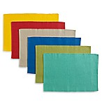 Mix and Match Solid Cotton Placemats (Set of 6)