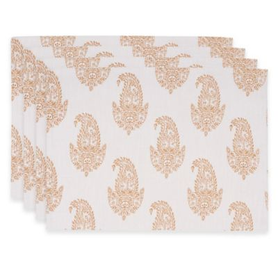 Rani Placemats in White/Gold (Set of 4)
