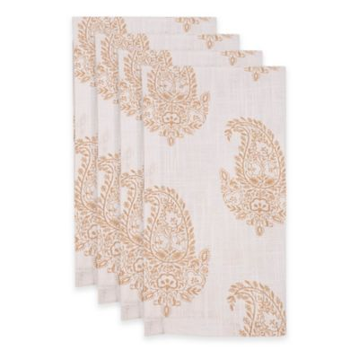 Rani Napkins in White/Gold (Set of 4)