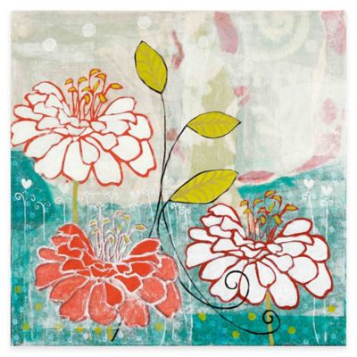 Parvez Taj Orange Dahlia I 18-Inch x 18-Inch Canvas Wall Art
